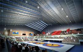 中國農大摔跤賽場