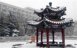 北京交大雪景