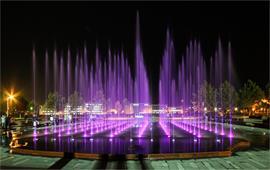 体育中心广场喷泉