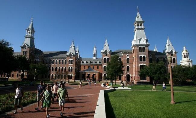 美国乔治福克斯大学校园一角