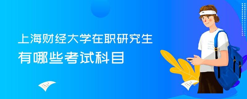 上海财经大学在职研究生有哪些考试科目