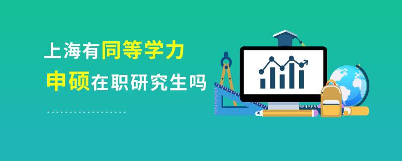 上海有同等学力申硕在职研究生吗