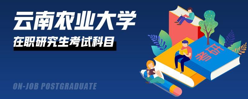 参加云南农业大学在职研究生有什么考试科目?