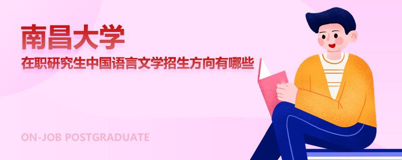 南昌大学在职研究生中国语言文学招生方向有哪些