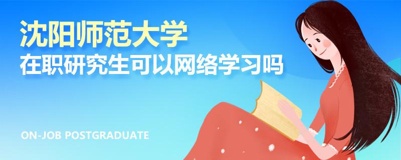 沈阳师范大学在职研究生可以网络学习吗