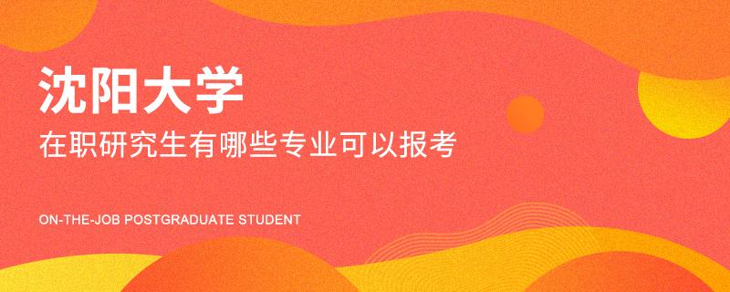 沈阳大学在职研究生有哪些专业可以报考