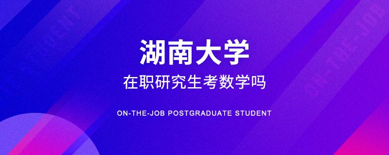 湖南大学在职研究生考数学吗