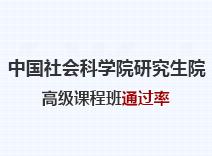 2021年中国社会科学院研究生院高级课程班通过率