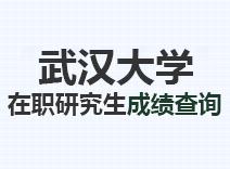 2021年武汉大学在职研究生成绩查询