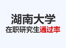 2021年湖南大学在职研究生通过率