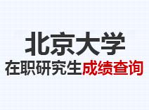 2021年北京大学在职研究生成绩查询