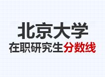 2021年北京大学在职研究生分数线