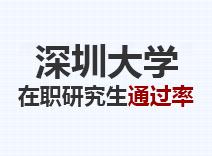 2021年深圳大学在职研究生通过率