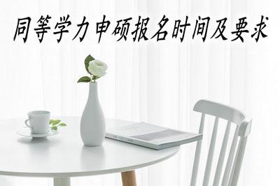 2019年同等学力申硕的报名时间及要求有无变化?