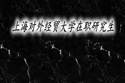 上海对外经贸大学在职研究生课程班的要求有哪些?