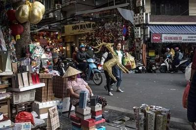 越南河内购物街