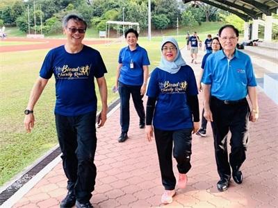 哈莉玛总统与国大校长及MPAM校友欢乐跑