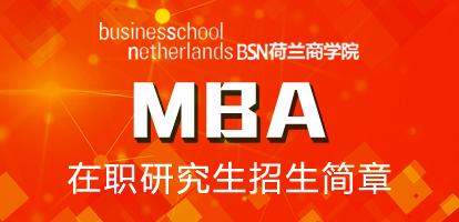 荷兰商学院MBA在职研究生招生简章