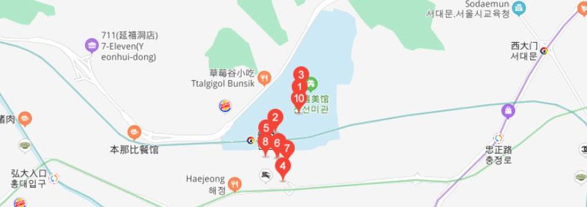 首尔科学综合大学院大学在职研究生学校地图