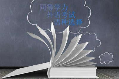 同等学力外语考试语种选择
