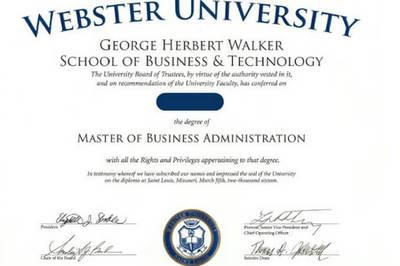 国外硕士学位证书