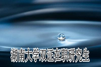 湖南大学双证在职研究生