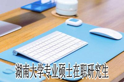 湖南大学专业硕士在职研究生